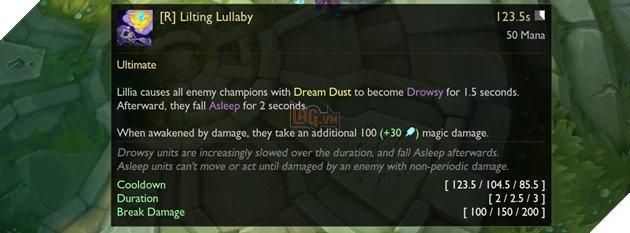 LMHT - Chi tiết bộ kỹ năng của Lillia - Tướng đi rừng khống chế Ngủ diện rộng đáng sợ 11